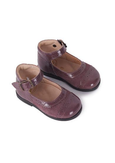 PèPè Children scarpe primi passi vernice pelle scamosciata rosa