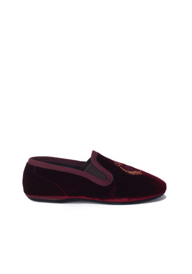 PèPè Children slippers Bordeaux velluto suola gomma
