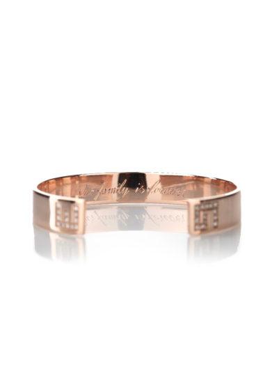Roberto callegari family bangle in oro rosa e diamanti personalizzabile