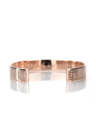 bracciale family bangle in oro rosa e diamanti personalizzabile roberto callegari