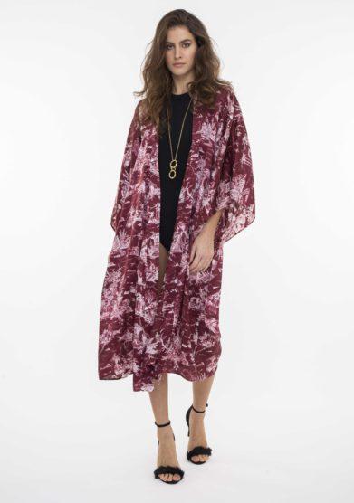 kimono regina toile de jouy bordeaux toile society