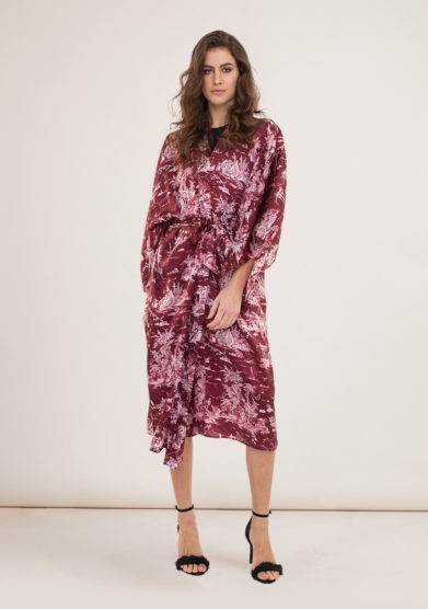 Toile society kimono regina toile de jouy bordeaux