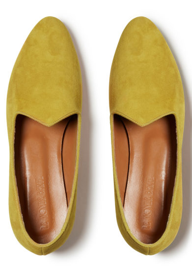 venetian slipper senape in camoscio le monde beryl