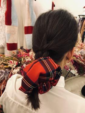 Annagiulia Firenze big scrunchie tartan lana