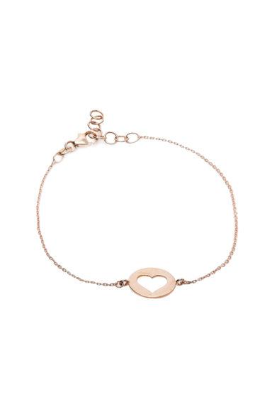 Isabì Isabella Pangrazi bracciale oro rosa cuore vuoto