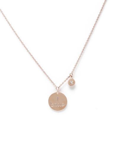 Isabì Isabella Pangrazi girocollo oro rosa diamante personalizzabile