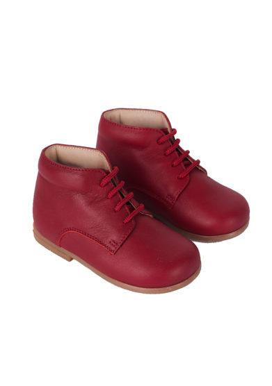 PèPè scarpe pelle primi passi rosso