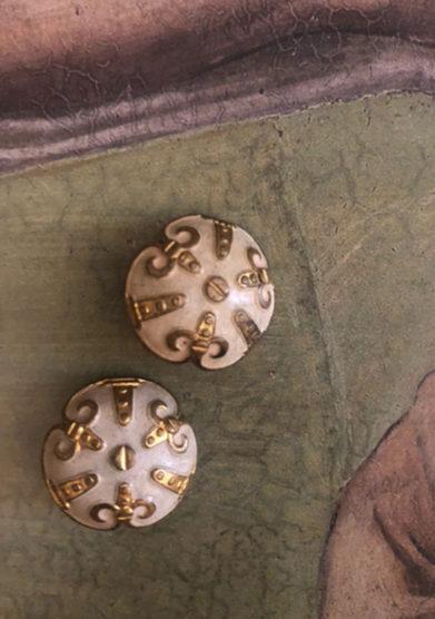 orecchini bottone vintage bizantine bon bon