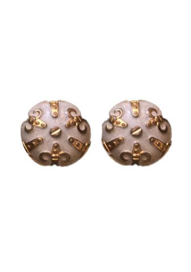 Bon bon orecchini bottone vintage bizantine