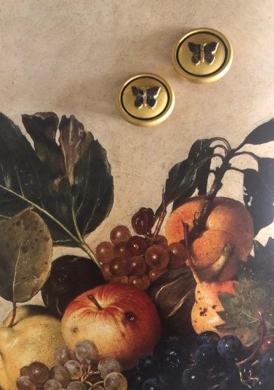 orecchini bottone vintage butterfly bon bon