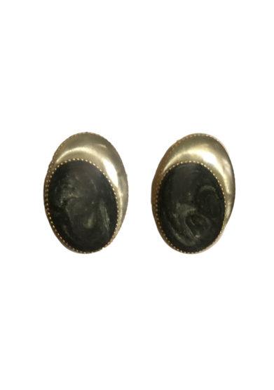 Bon bon orecchini bottone vintage olive