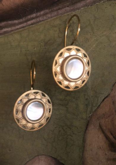 orecchini bottone vintage sole bon bon