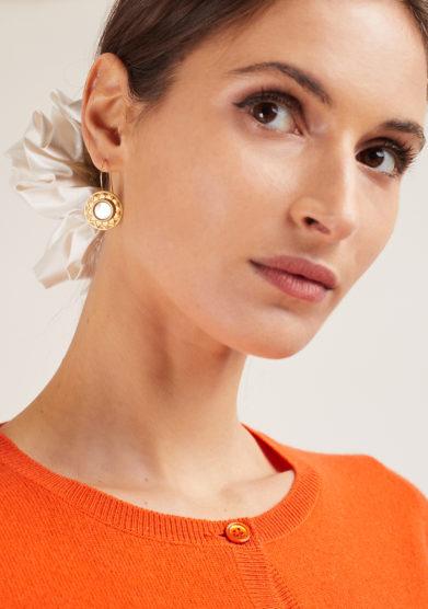 Bon bon orecchini bottone vintage sole madreperla