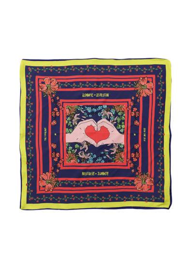 Serà fine silk foulard in seta Romantic Revolution
