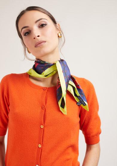 foulard in seta Serà fine silk Romantic Revolution