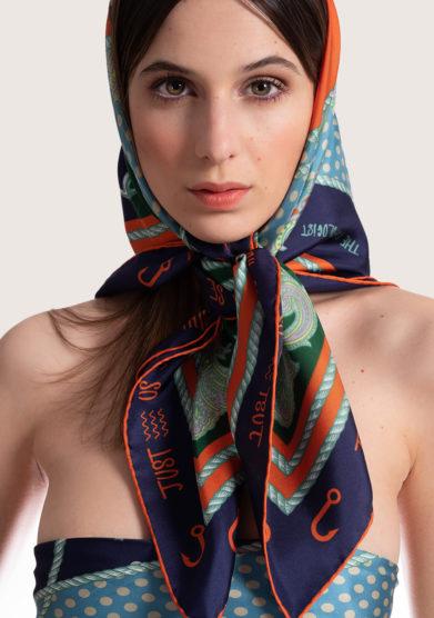 foulard in seta stampa Just us nothing else Serà fine silk