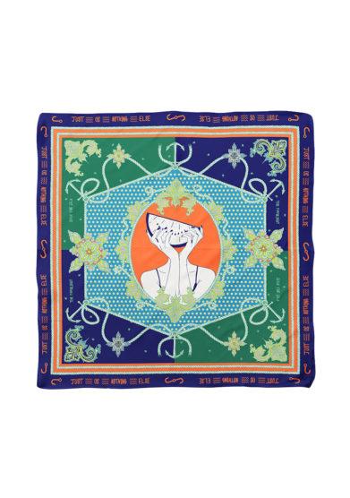 Serà fine silk foulard in seta stampa Just us nothing else still
