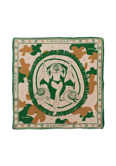 Serà fine silk foulard in seta stampa it's a beautiful day to leave me alone