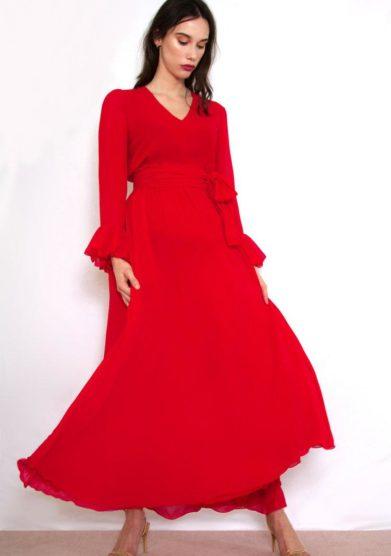 Valelì abito lungo rosso ampio
