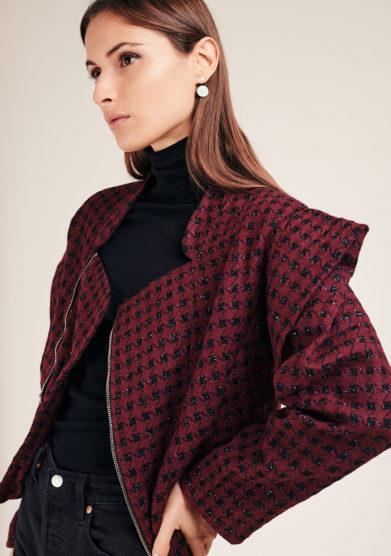 Vivia for love blazer torero misto lana bordeaux