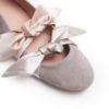 ballerina 1979 scamosciata tortora fiocchi raso