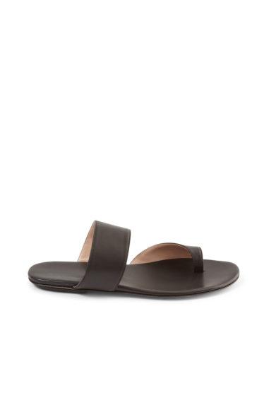 Gia couture sandalo flat infradito pelle nera