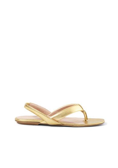 Gia couture sandalo infradito pelle oro