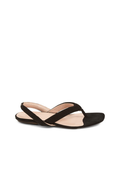 Gia couture sandalo infradito scamosciato nero