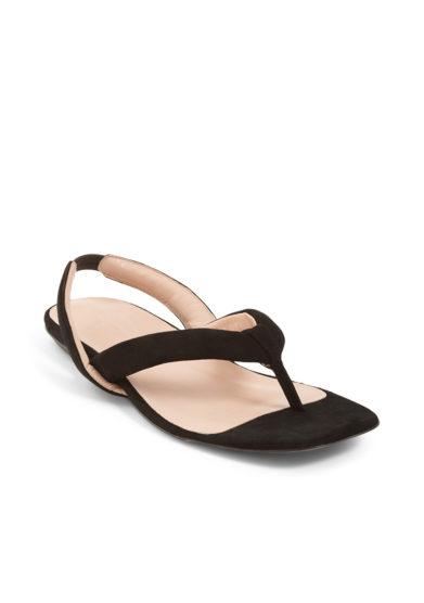 sandalo infradito scamosciato nero gia couture
