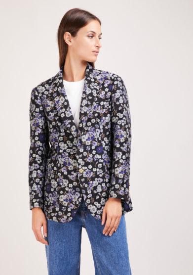 Nasco unico blazer jacquard a fiori over monopetto