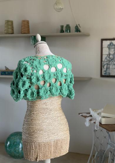 bolerino in lana lavorato mezza manica verdura resort