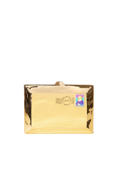 Virginia Severini Clutch love letter metallica oro