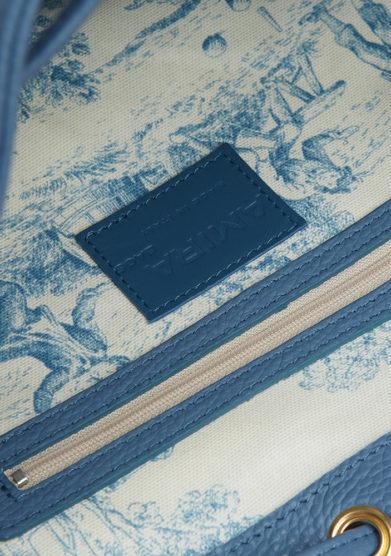 amira bags secchiello grande blu dettaglio