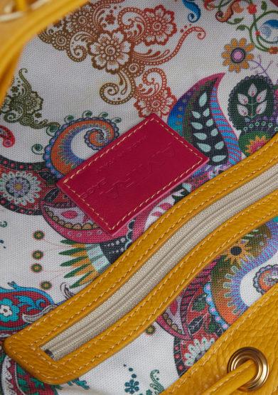 secchiello grande giallo interno amira bags