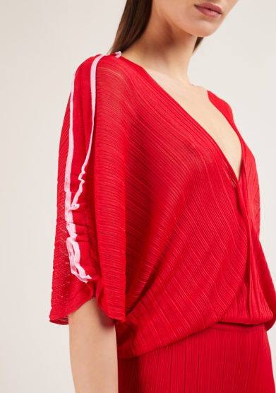 tuta intera rossa in maglia 16R