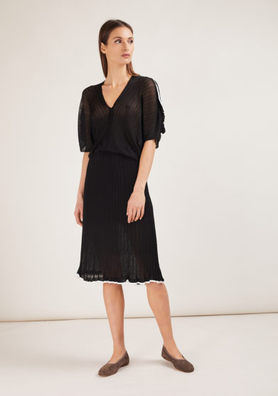 16r abito in maglia nero manica a kimono