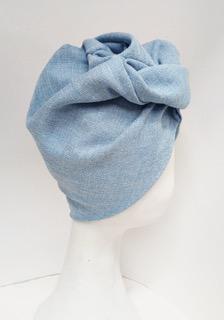 altalen turbante panama in seta azzurro