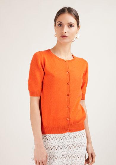 maglia emma in cashmere arancione Alyki