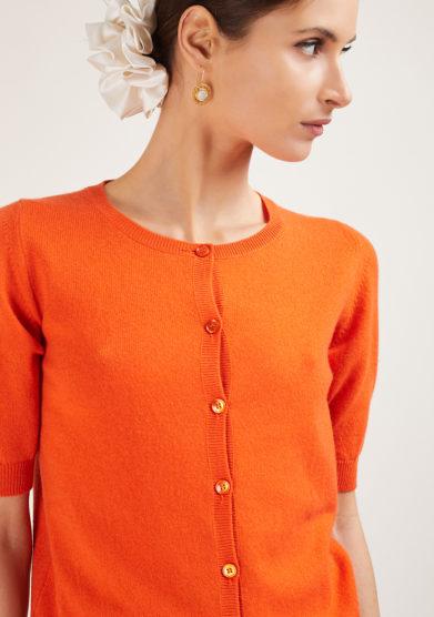 alyki maglia emma in cashmere arancione