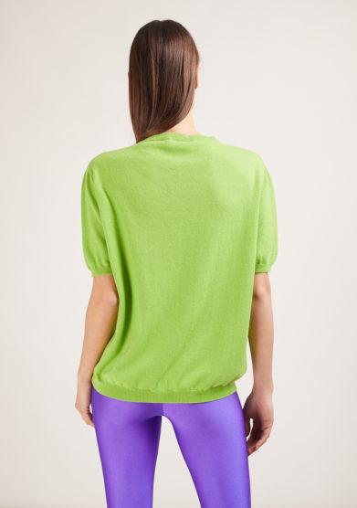 maglia miuccia alyki verde in cashmere