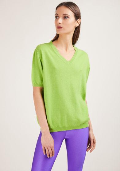 maglia miuccia in cashmere verde alyki
