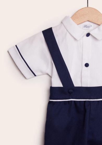 completo bambino cerimonia in cotone blu baroni