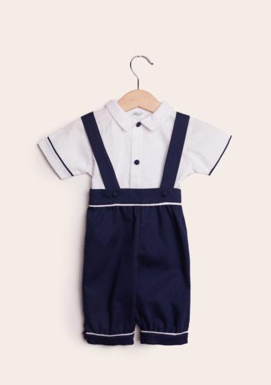 baroni completo bambino cerimonia in cotone blu