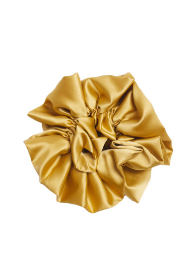 scrunchy in raso oro bluetiful