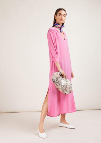 celine caftan dress rosa caftanii