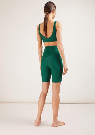 pantaloncino ciclista verde opaco mahr