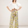 pantalone palazzo in seta mantero 1902 summer poppies giallo