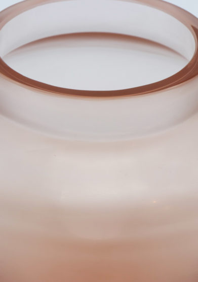 Micheluzzi glass vaso rosa goccia