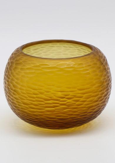 Micheluzzi glass vaso puffo miele vetro di murano
