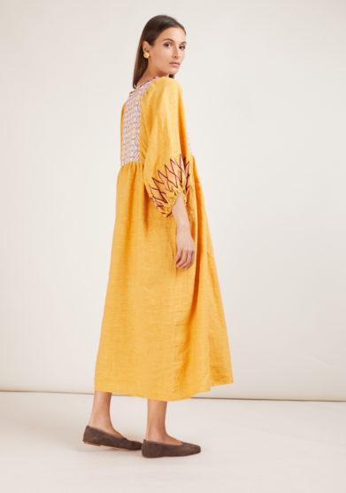 abito in lino nina leuca in mango